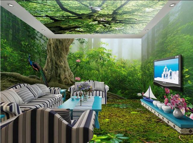 custom 3d piso foto fondo de pantalla bosque 3d fondos de. Black Bedroom Furniture Sets. Home Design Ideas