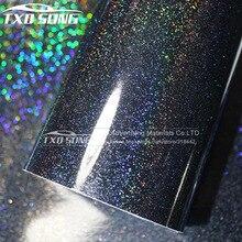 Премиум черный глянцевый блеск жемчуг Виниловая Наклейка Красочный Хамелеон Радуга Глянцевая блестящая пленка Размер: 1,52x20 м в рулоне