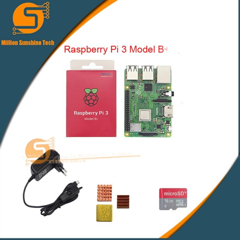 Raspberry pi 3B++16GB+ Heat sink+5V 3A power for Raspberry pi 3B+ free shipping free shipping pure nature raspberry extract raspberry ketones powder 500mg x 100caps