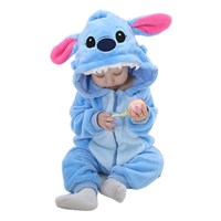 Spring Autumn Baby Clothes Flannel Baby Boys Clothes Cartoon Animal Hooded Jumpsuits Infant Girls Rompers Baby