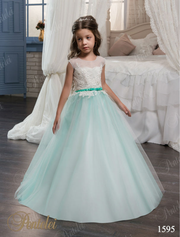 Lace Flower Girl Dress Birthday Wedding Party Holiday Bridesmaid A-Line Pageant Dresses For Girls Glitz Mother Daughter Dresses a line flower girls dresses for wedding gowns lace girl birthday party dress glitz pageant dresses