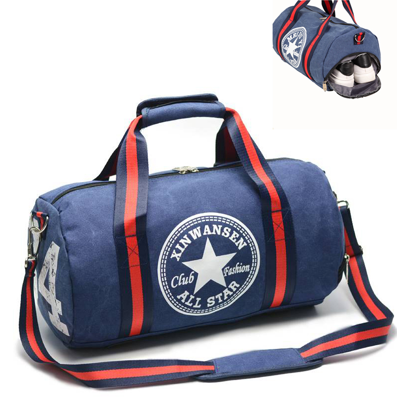 Gym Bag Canvas Sports Bag Durable Multifunction Handbag Men Women Travel Bags Outdoor Fitness Sports Bags For Male&Female