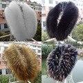 2016 de Las nuevas Mujeres de imitación de piel de zorro cuello de chal multicolor cuello de piel de moda femenina otoño y el invierno cálido chal bufandas