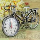 Vintage Arabic Numeral Bicycle Shape Creative Table Alarm Clock Home Decor
