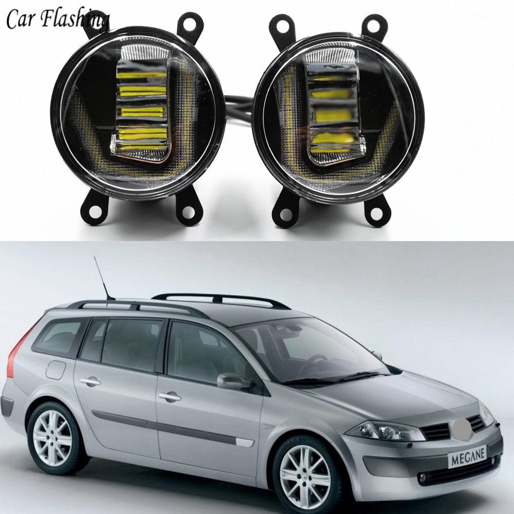 3 IN 1 Functions Auto LED For Renault Megane 2 II DRL