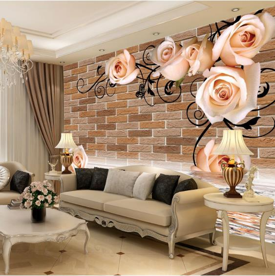 Custom photo wallpaper Customized wallpaper bedroom living room sofa TV backdrop 3D brick wallpaper mural встраиваемая посудомоечная машина siemens sn678x51tr