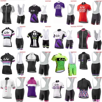 2018 women Cycling Short Sleeves jersey bib shorts sets bicycling shirts Bicycle Sportswear Cycle clothing accept mix size 1901K