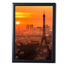Black Simulation Wood Table Photo Frame Picture A4 Frames Complete Frame with Glass Hardboard Back Photoes Decorative Tool #0530(China)