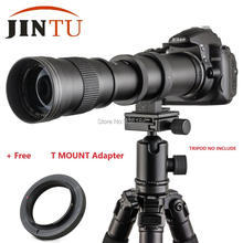 JINTU 420-800mm F/8.3-16 67mm Super Telephoto Manual Zoom Lens+T2 Adapter for Nikon Canon EOS Sony Pentax M4/3 DSLR Cameras +Bag