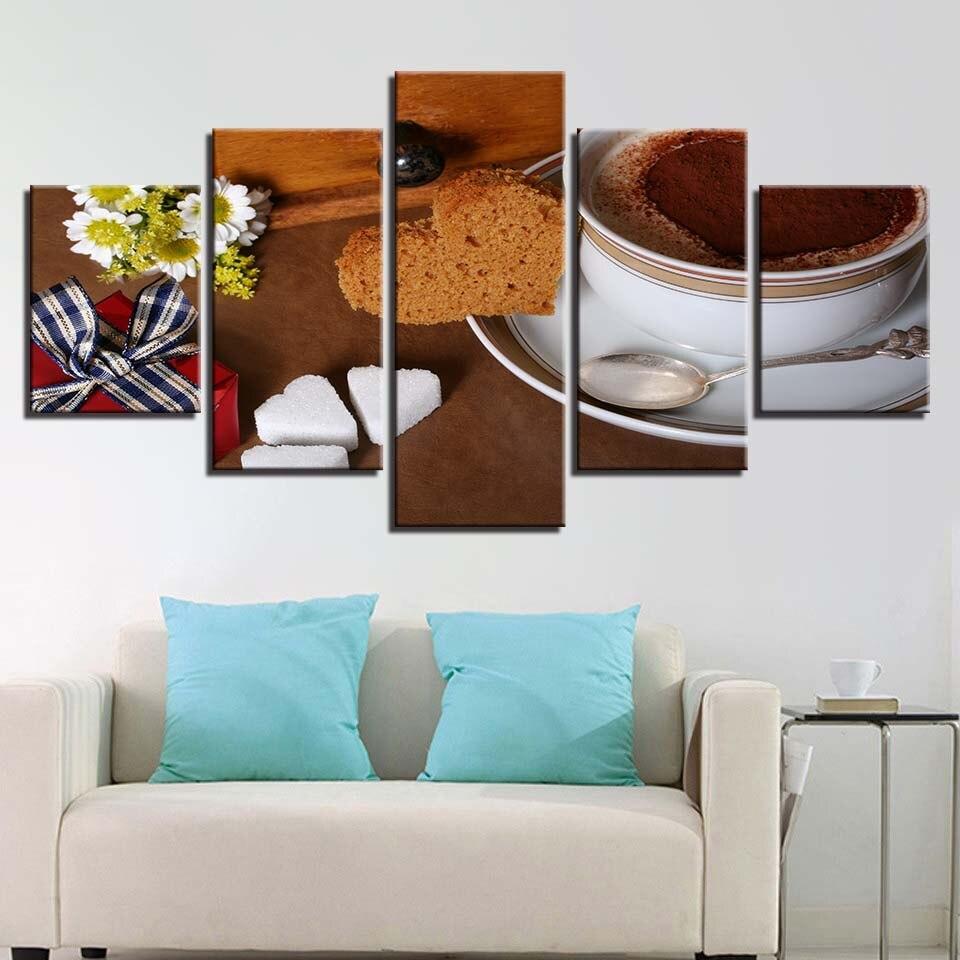 Canvas HD Prints Paintings Kitchen Home Decor 5 Pieces
