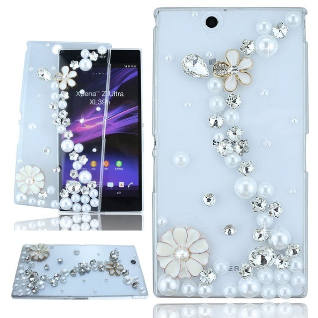 579d9ff0f126 Bling Case Diamond Case for Sony Xperia Z L36H C6603 C6602 Phone Cases Capa  Para L36h Coque Funda Capinha Clear Crystal Cover