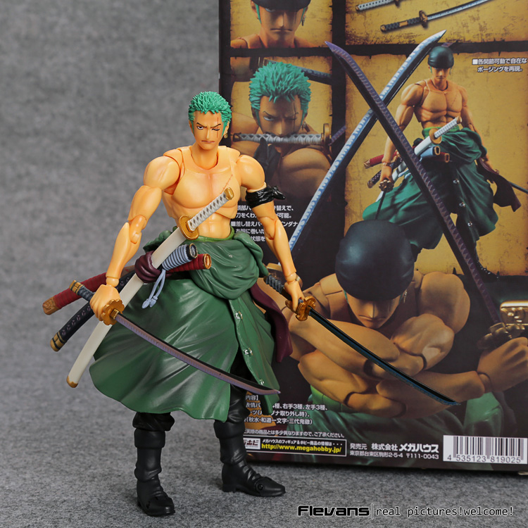 MegaHouse Variable Action Heroes One Piece Roronoa Zoro PVC Action Figure Collectible Model Toy 18cm OPFG508