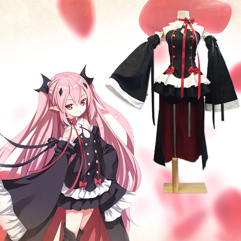 Krul Tepes Costumes Women Sexy Cosplay Owari No Seraph The