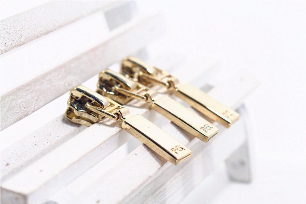 5 Wholesale 10pcs Zipper Gold Metal Zipper Pulls Zipper Head For
