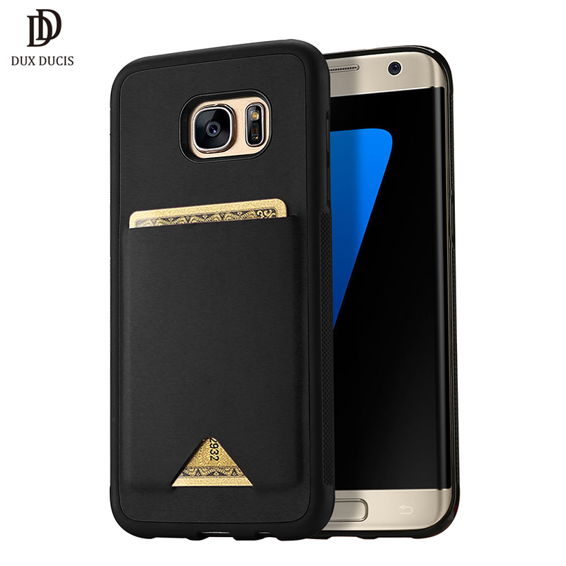 premium selection 458fe 30836 PU Leather Samsung Galaxy S7 Edge Case Card Holder Wallet Cover For Samsung  S7 Edge Case Coque Galaxy S7 Edge