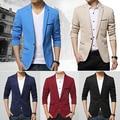 Fashion Men's Long Sleeve Slim Fit One Button Jacket Blazer Wedding Office Coat