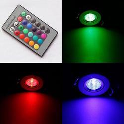 3 W 200-250LM LED lampa sufitowa Led RGB LED Spot W dół światło z pilota zdalnego sterowania oświetlenie kinkiet (85- 265 V)