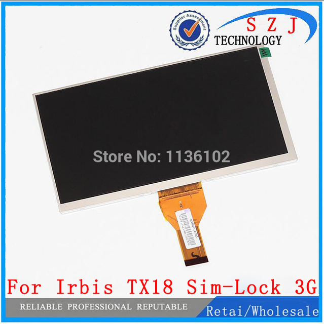 New 7'' inch case LCD display For matrix Irbis TX18 Sim-Lock 3G Tablet inner LCD Screen Panel Module Replacement Free shipping