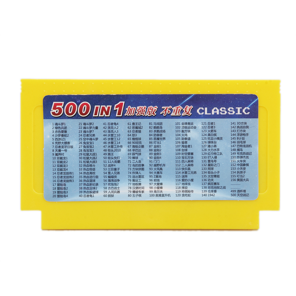 500 in 1 game cartridge Video Games Memory Cards 180 400 in 1 8 Bit 60 Pins Console For Nintend game classic FC game cards 8in1 image