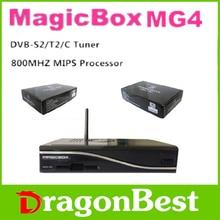 Receptor de satélite MG4 HD MGAICBOX MG4 DVB-S2/T/C sintonizador incorporado 300 M wifi 800 MHZ MIPS procesador apoyo YouTobe Player HBBTV