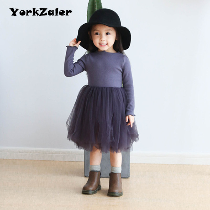 YorkZaler Clearance Baby Girls Tutu Dress Long Sleeve Autumn Children Clothes Dress Solid Princess Girl Dresses Kids Clothing spring autumn girl dress hooded long sleeve kids clothes toddler next casual children clothing striped tutu baby dresses girls