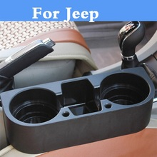 Car Seat Gap Cup Holder Slit Holder Storage Organizer Box styling For Jeep Liberty Renegade Wrangler Commander