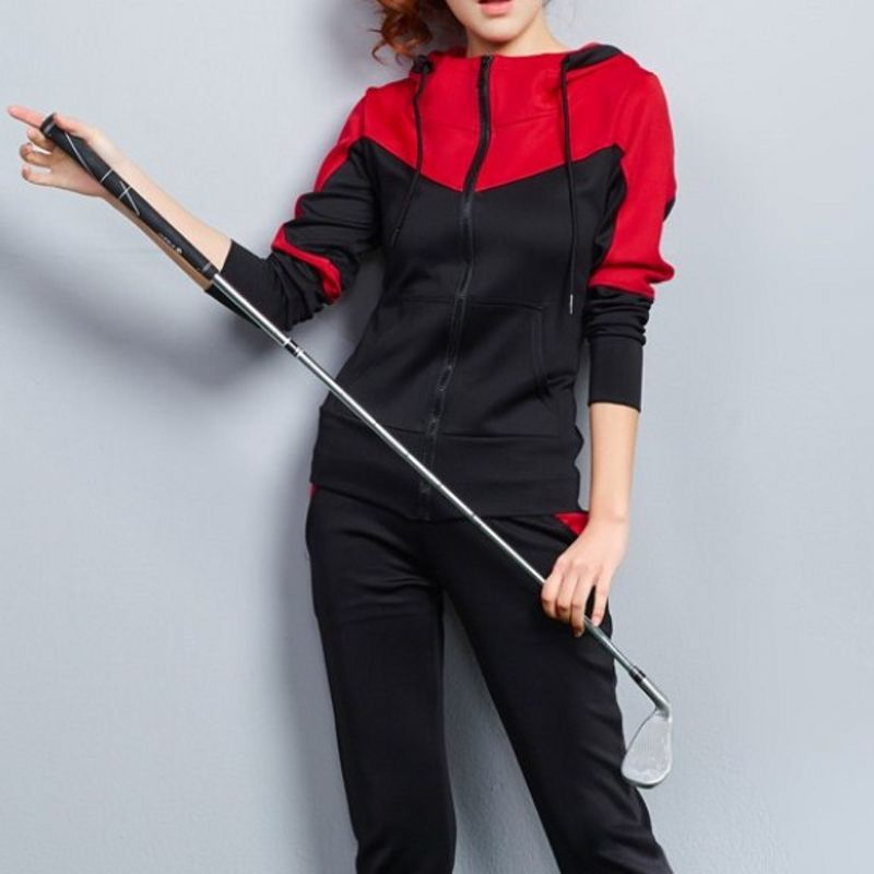2018 Autumn Brand Overalls Sports Fitness Tracksuit Sportwear Sets Hoodie Sweat Suits Costumes For Women With Sparkles Plus Size plus size funnel collar maxi asymmetric hoodie