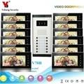 YobangSecurity видеодомофон 7 дюймов монитор видео дверной звонок камера домофона Интерком для 12 единиц квартиры