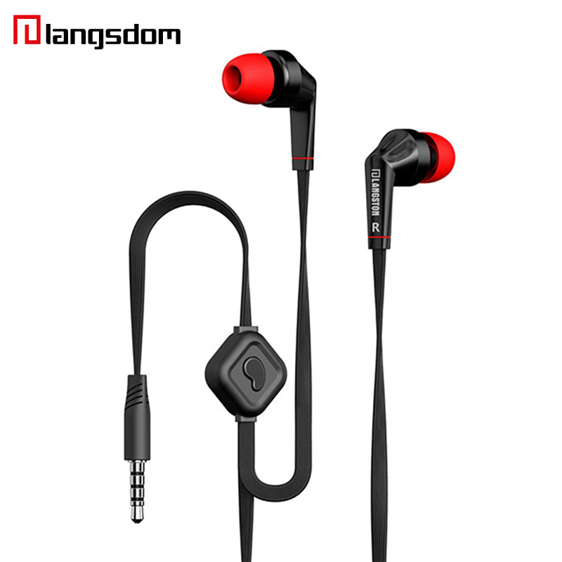 Langsdom JD88 in ear Earphone Stereo Earphones Super Bass Headset earbuds with microphone for iphone for mobile phone original langsdom sp80a stereo earphones with microphone super bass 3 5mm in ear earphone for iphone xiaomi mobile phone mp3 mp4