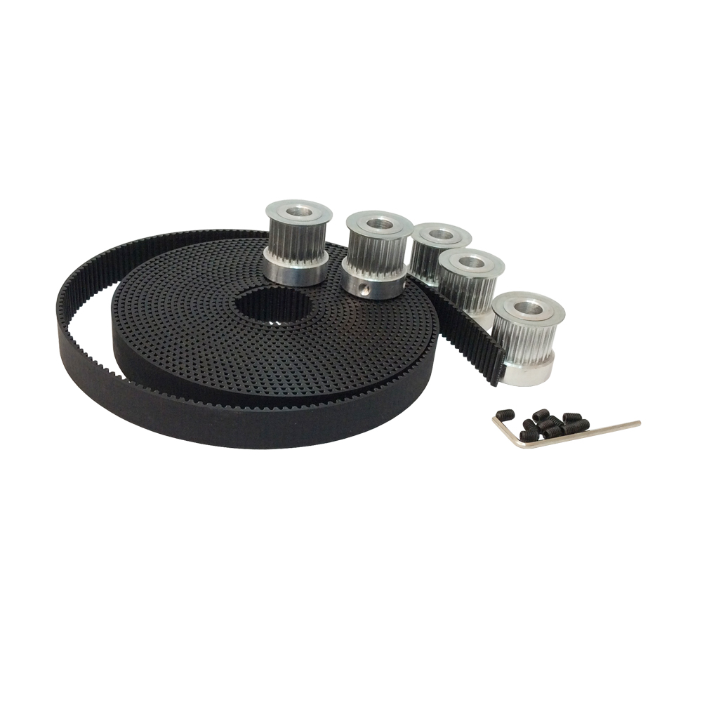 3M Timing Belt Pulley 5pcs 15 teeth 3M Pulley Bore 5mm 6mm 6.35mm 8mm & 10 Meter HTD 3M timing belt PU width 15mm 10meters htd 3m open ended timing belt width 15mm 10pcs 24 teeth bore 12mm 3m timing pulley for laser engraving cnc machines