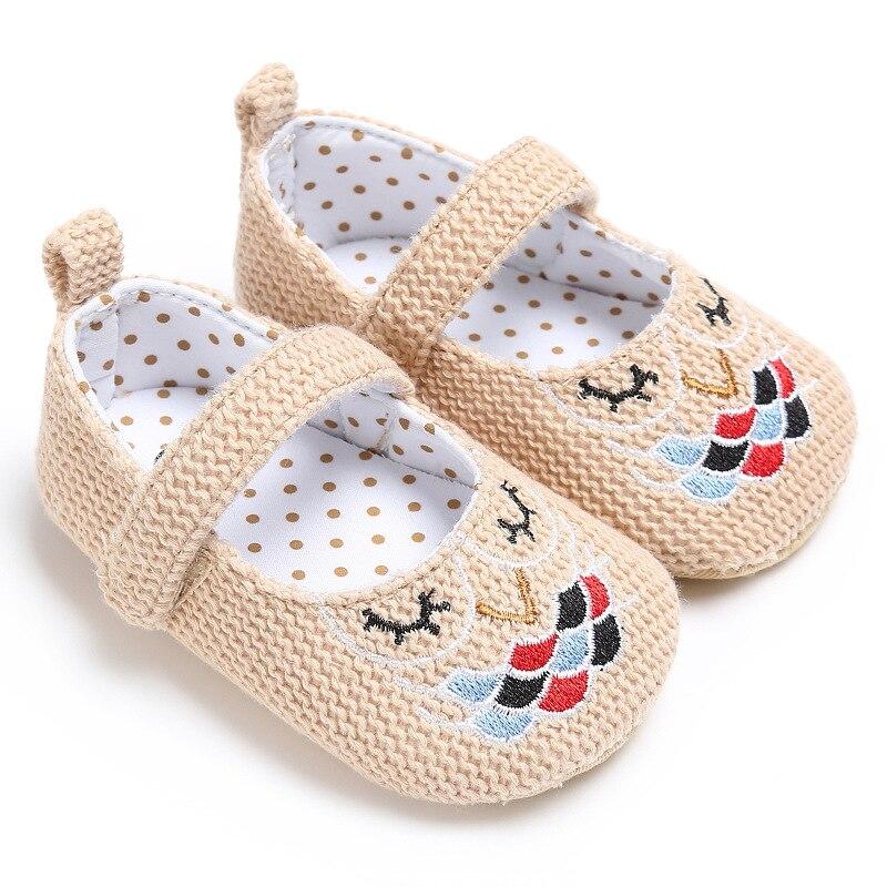 Hemp Baby Shoes Prewalker Princess Crib Anti-Slip Soft-Soled Newborn Mary Jane 0-18month