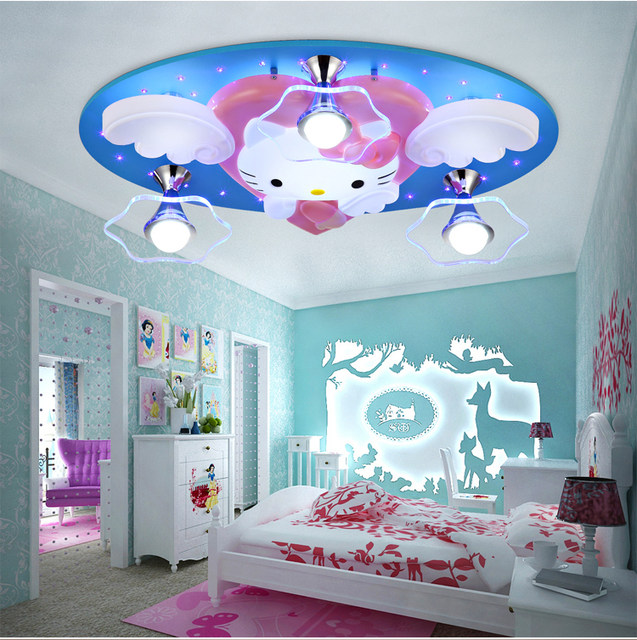 Online Shop Newest Hello Kitty Cat LED Ceiling Lights Fixture Cute - Hello kitty lamps for bedroom