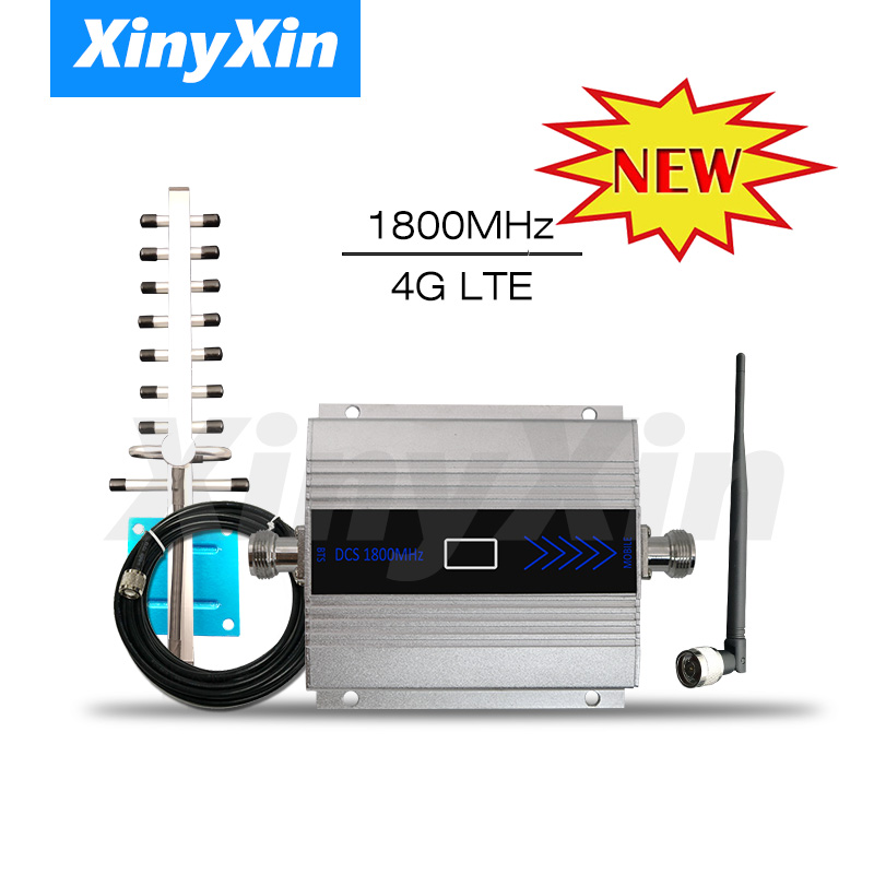 4G LTE DCS 1800mhz Moblie phone Booster GSM 1800 Signal Repeater Cellular Cell phone Amplifier 4G Network 65dB Gain LCD Display