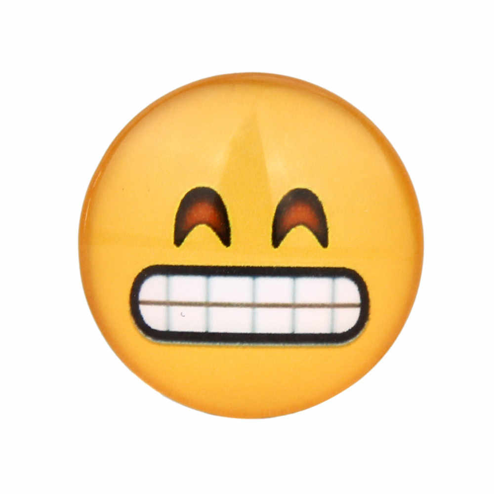 * Pegatinas de nevera dibujos animados Emoticons vidrio pegamento signo patrón Domo vidrio imán nevera Imanes ima de geladeira 0,36
