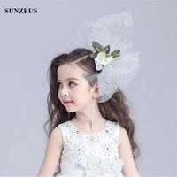 Kurze Brautschleier Für Blume Mädchen Neue Kinder Kopfschmuck Kleines Mädchen Kopfstück Zubehör BV-062