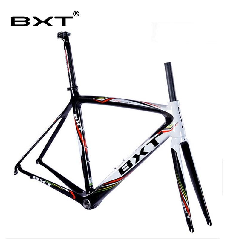 Cadre route carbone chine Super Léger Di2 Carbone Route Vélo Cadre avec fourche tige de selle Taille: 500/530/550mm chine vélo de course cadre
