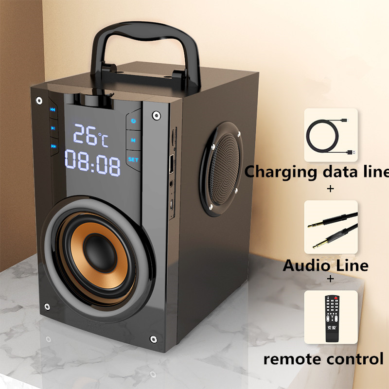 Three Speakers Wireless Portable Bluetooth Speaker Outdoor Large Volume Super Bass Square Dance 3d Surround Sound Card Player