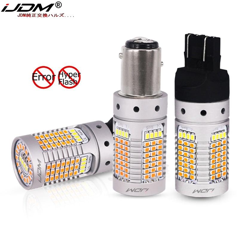 IJDM без Hyper Flash 21 Вт 7443 светодиодный Canbus 3157 1157 светодиодный Белый/янтарный светодиодный переключатель для дневных ходовых/сигнальных огней
