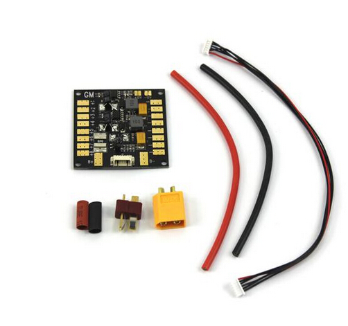 Multifunction Power Distribution Board 5.3V BEC for 4-6S Battery Dual 12V Output FPV RC Multicopter ESC Motor APM Gimbal  F14589 t plug power distribution board 4 axle switch panel for rc quadcopter apm px4