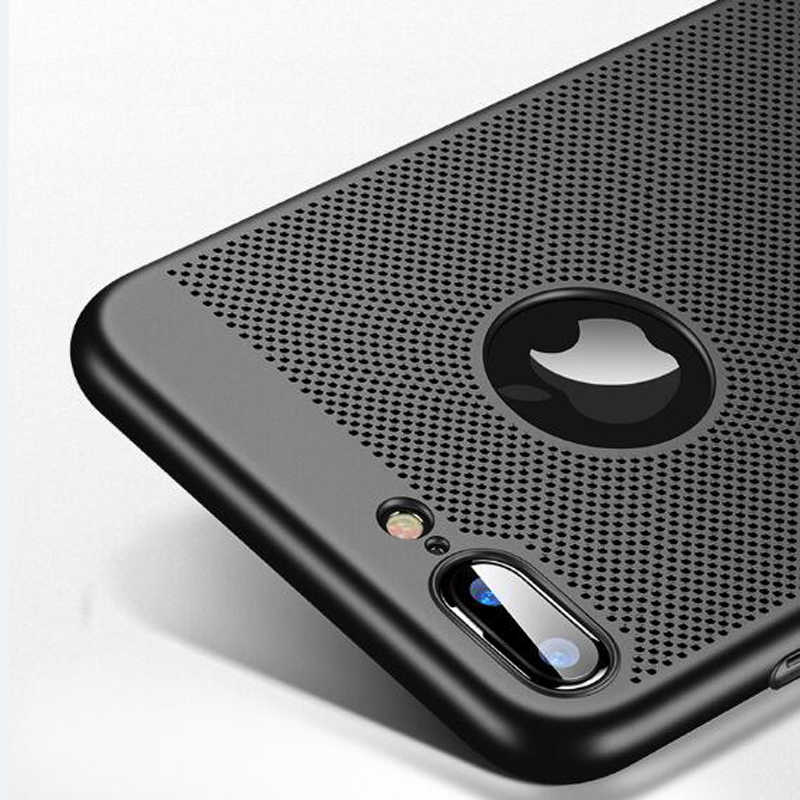 Ultra Slim Hollow Heat Dissipation Phone Case For iphone 6 S 7 7Plus 6S 6Plus 6S 8 8Plus 5 5s SE X XS MAX XR Hard Back Cover
