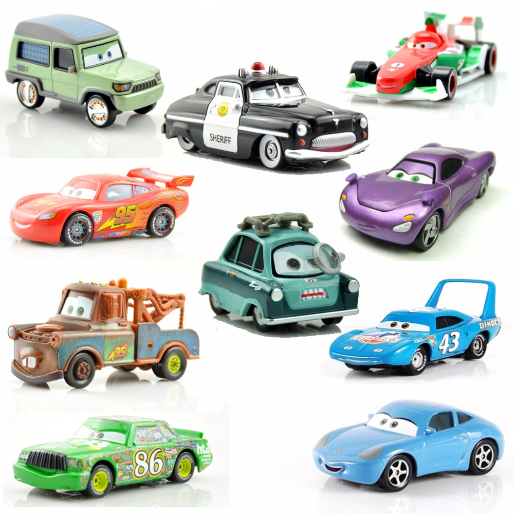 20 Style Disney Pixar Cars Toys For Kids Lightning McQueen High Quality Discate Metal Cartoon Car Model Toys Christmas Gifts