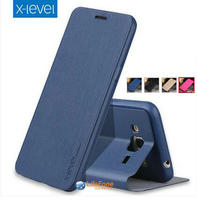 X Level X Level High Quality Flip Stand Soft TPU Back Cover Luxury PU Leather Case