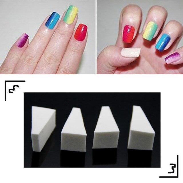 Foonbe Nail Art Gereedschap Gradint Nails Soft Sponzen Voor Kleur