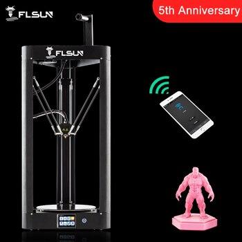 2019 NOVA Impressora 3D Flsun QQ-S Kossel Sensor de Nível de Auto Treliça HeatBed de Pré-montagem Titan Toque Wifi 32bits boad Alta velocidade