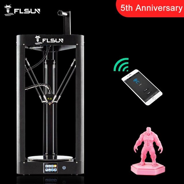 2019 nueva impresora 3D Flsun QQ-S Kossel Sensor de nivel automático entramado calor preensamblado Titan Touch Wifi 32bits boad de alta velocidad