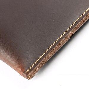 Image 5 - 노트북 용 폴더 포트폴리오 운동 용 A4 폴더 대용량 문서 서류 용 가죽 파일 가방 사무용품
