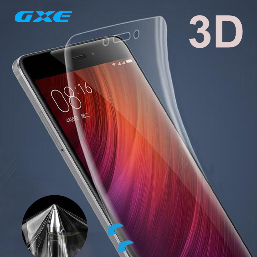 GXE TPU Soft Film 3D Full Cover Screen Protector Film For Xiaomi Mi 6 5c 5x 5s Plus Max 2 Note 2 3 Redmi Note 4 4X 5A Prime