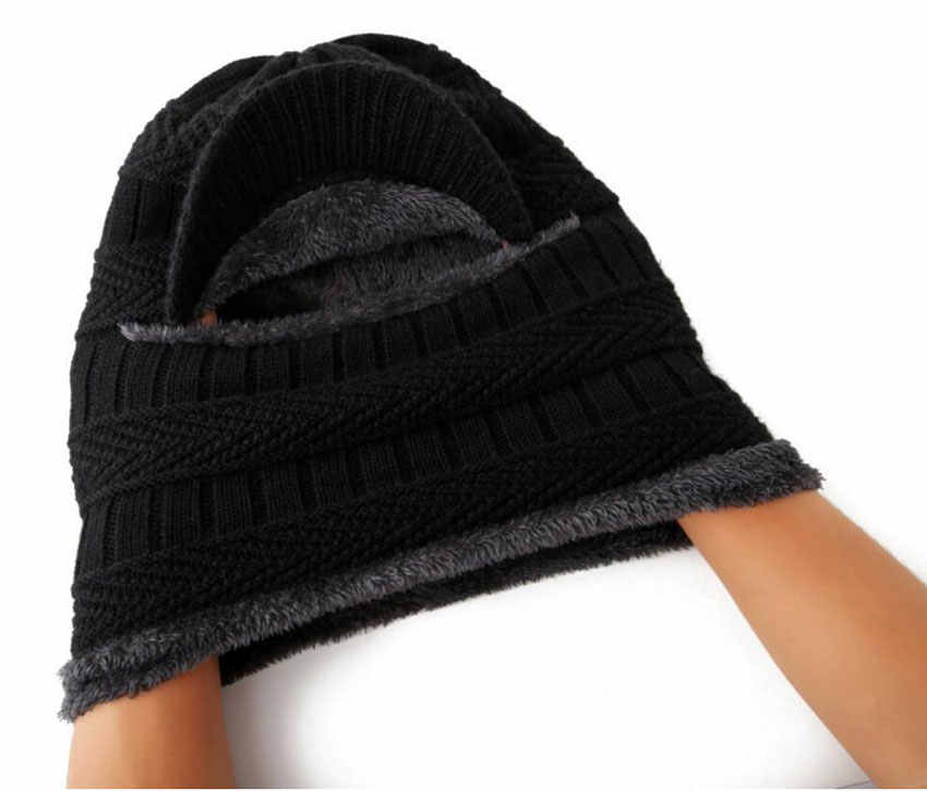 097e6caa0c2 ... Winter Hat And Scarf Set For Women Men Ring Scarves Cap With Brim  Knitted Visor Beanies ...
