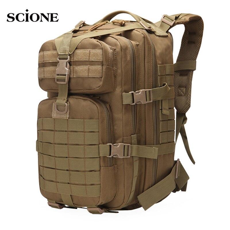 Hommes militaire tactique sac à dos assaut armée sac Molle sacs sac à dos alpinisme randonnée Camping chasse Mochila Sports XA833WA