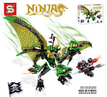 SY810 346pcs Double dragon VS the phantom ninjagoes building block action figures Minifigures baby toys